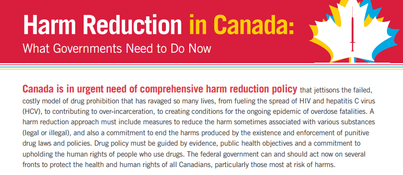 harm reduction in canada  what governments need to do now