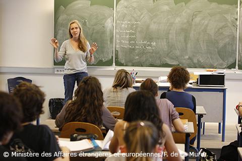 Salle de classe en France